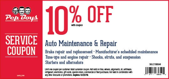 10 Off Auto Maintenance Repair