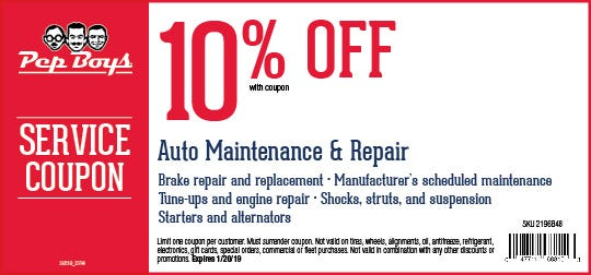 Brake Service Coupons >> Online Printable Coupons 10 Off Auto Maintenance Repair