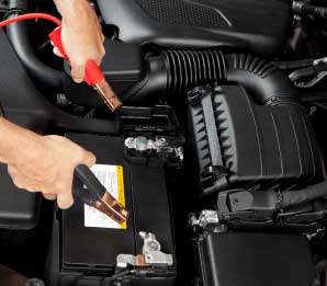 Jump-Starting Your Battery Using Another Car
