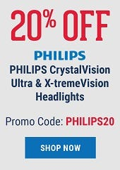 20% Offf Philips CrystalVision Utra & X-tremeVision